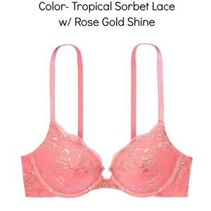 Victoria's Secret Lace Push Up Bra size 34D